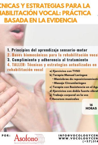 Técnicas y estrategias para la rehabilitación vocal: práctica basada en la evidencia