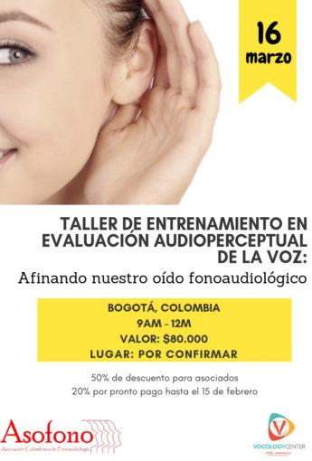 Taller de entrenamiento en evaluación audioperceptual de la voz